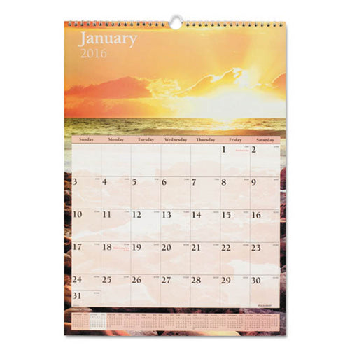Scenic Monthly Wall Calendar, 2020