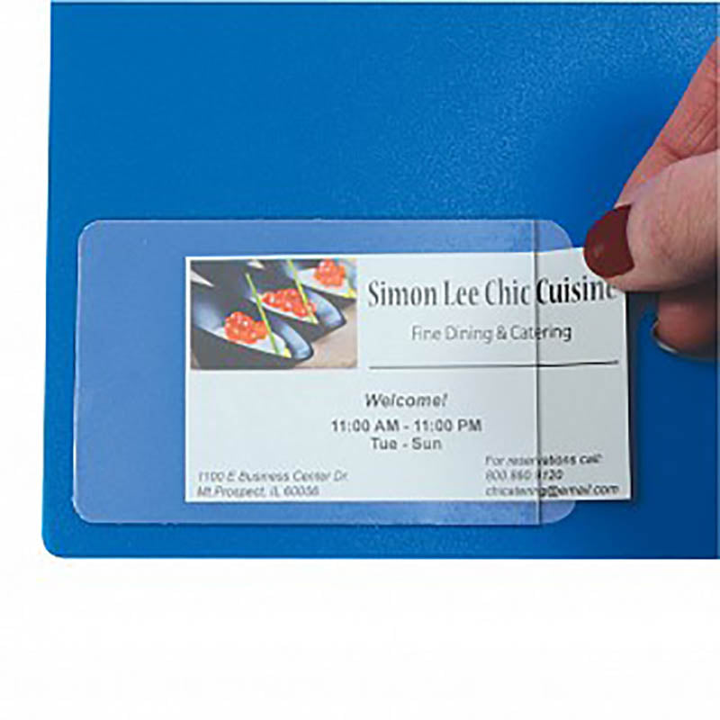Bussines card holder ultimate office self adhesive business card holders 3 12 x 2 colourmoves