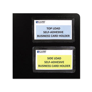 Self-Adhesive Business Card Holders (pack of 10), Clear