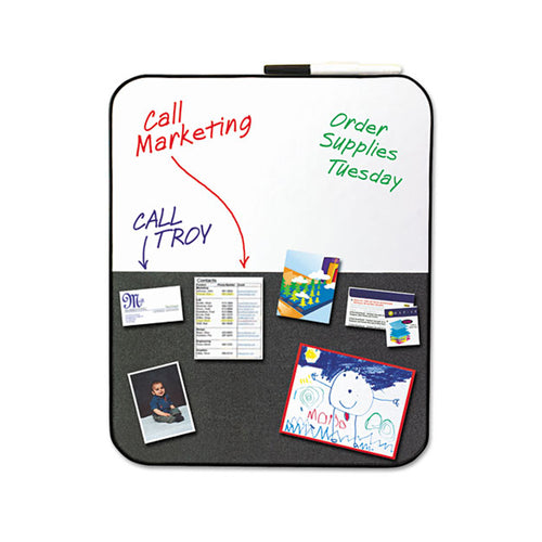 "Self-Stick/Dry-Erase Combination Board, 22""w x 18""h"