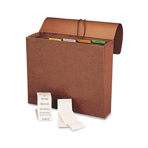 "Six-Pocket Project File w/ Insertable Tabs, 5 1/4"" Expansion, Letter, Brown"