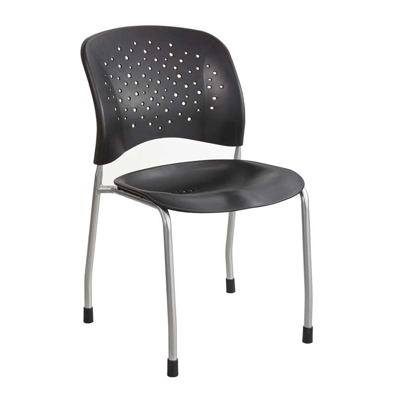 Stacking Guest Chair, Round Back w/ Straight Legs (set of 2 chairs)
