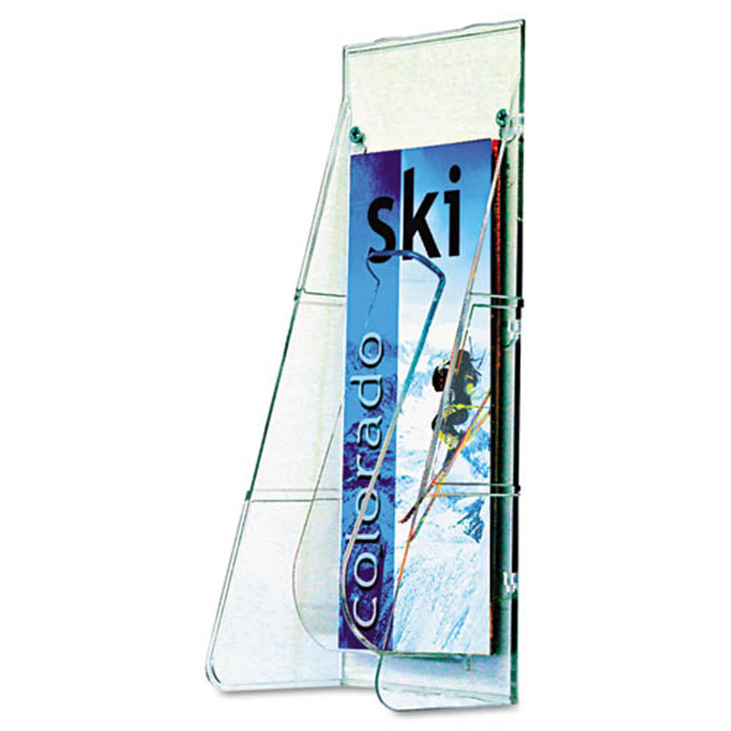 Stand Tall 1-Pocket Countertop Brochure Holder