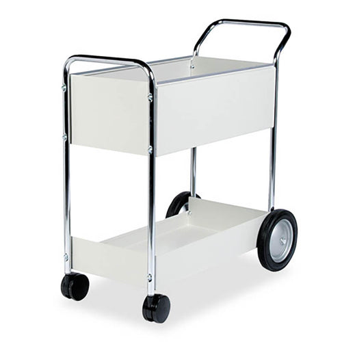 Steel Mail Cart, Dove Gray