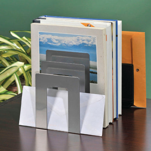 SteelWorx Square Slotted Bookends (set of 2)