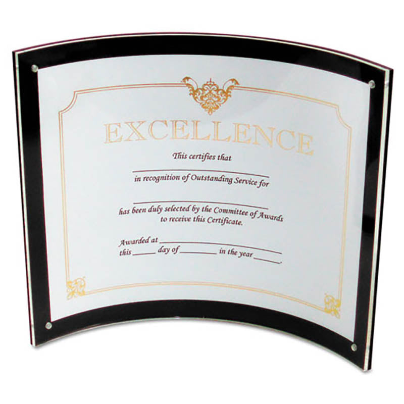 Superior Image Magnetic Certificate, Sign or Photo Holder, Black w/ Clear