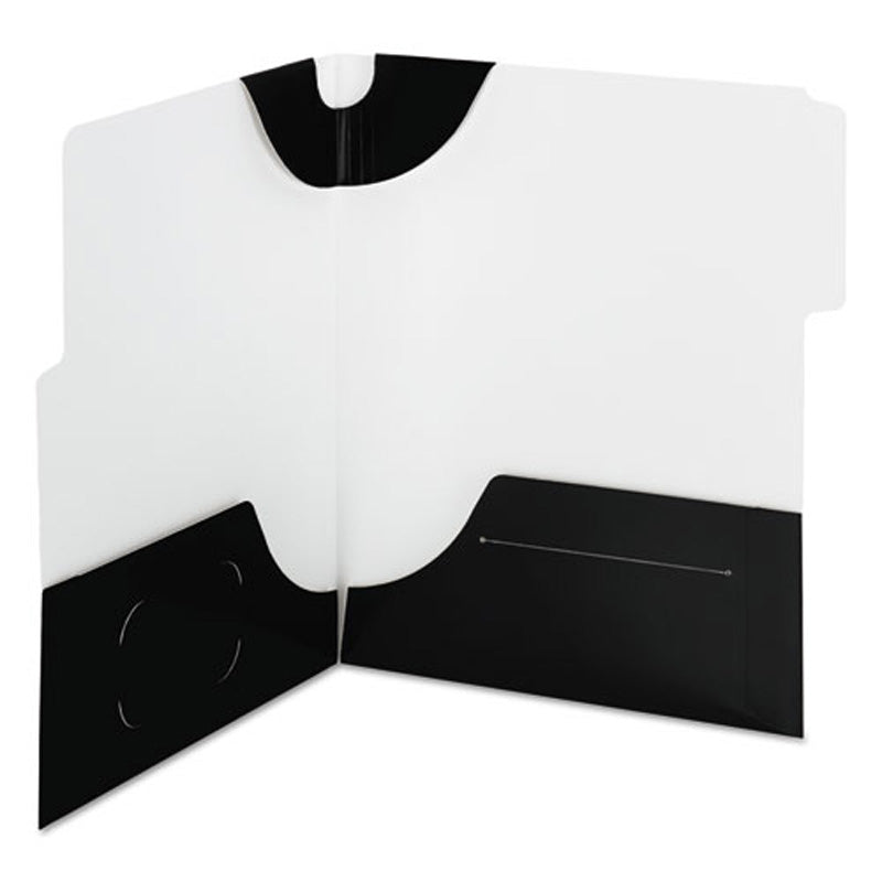 SuperTab Twin-Pocket Folders, Letter, Pack of 5