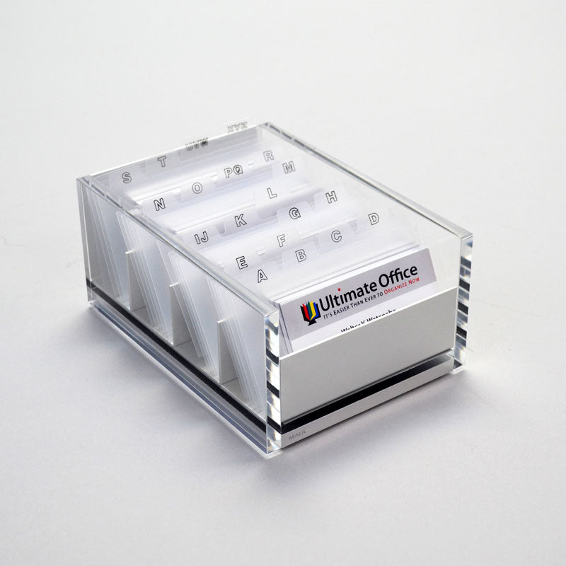 Supreme Acrylic Business Card File | Ultimate Office