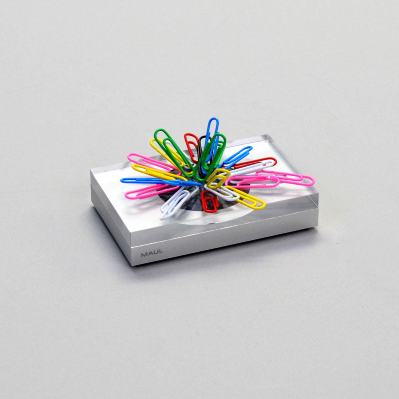Aluminum & Acrylic Magnetic Paperclip Holder