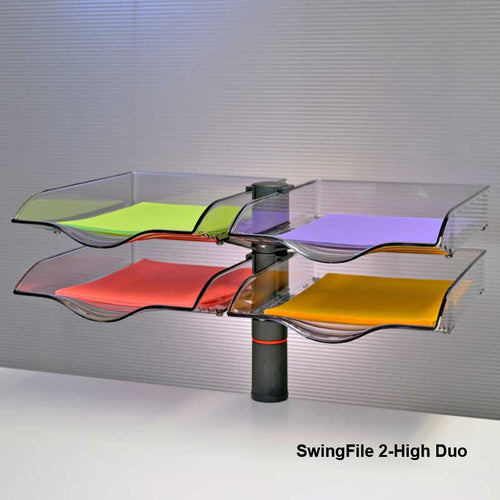 SwingFile Letter Trays, 2-High Duo