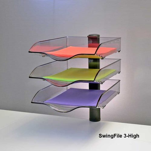 SwingFile Letter Trays, 3-High