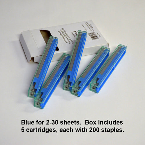 Blue 2-30 sheets (5 cartridges, 200 staples each)