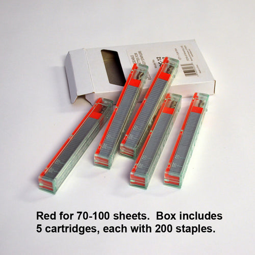 Red 70-100 sheets (5 cartridges, 200 staples each)