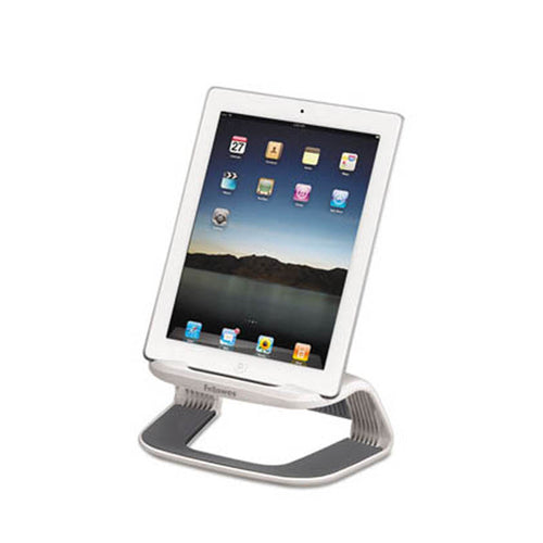Tablet Riser, White w/ Gray