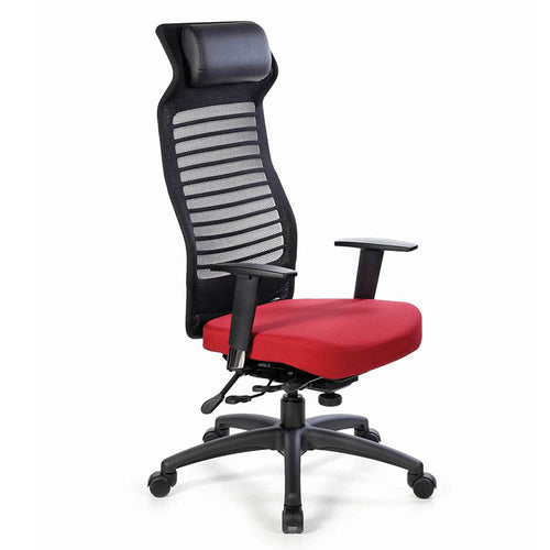 Tact High-Back Executive Chair w/ Adjustable Arms