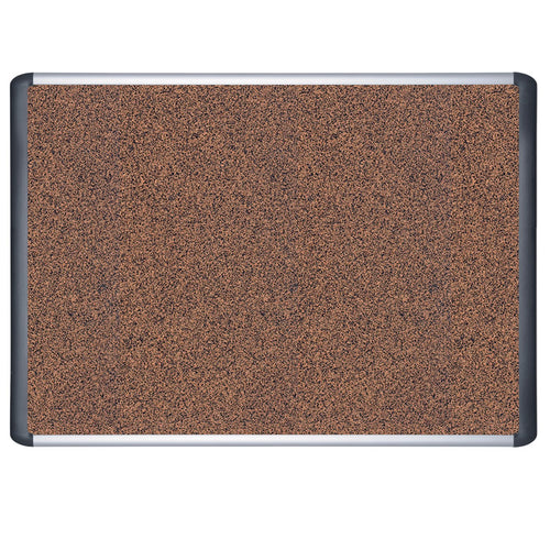 Tech Series Cork Bulletin Board, Aluminum & Black