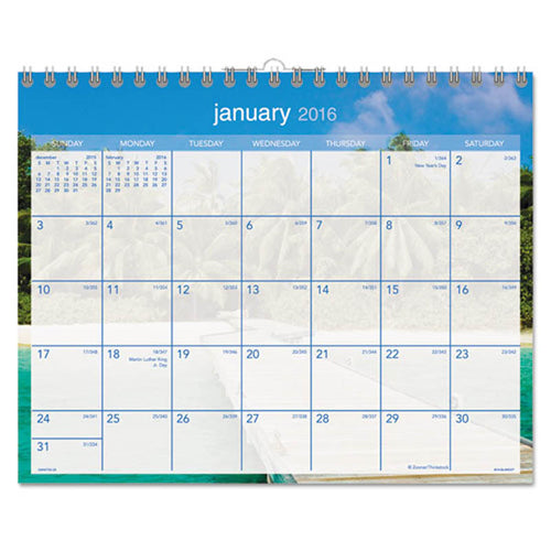 "Tropical Escape Wall Calendar, 15"" X 12"", 2020"