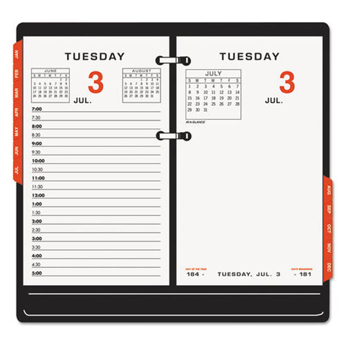 "Two-Color Desk Calendar Refill, 3 1/2"" X 6"", 2020"