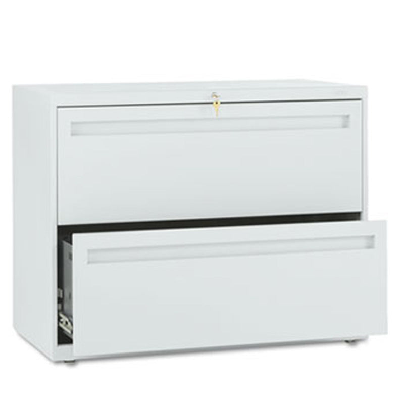 "Two-Drawer Heavy-Duty Lateral File Cabinet, 36""w x 19 1/4""d x 28 3/8""h"