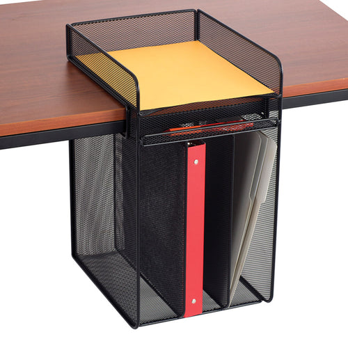 UltiMesh 1 Horizontal & 3 Vertical Compartment Under-Desk Hanging Organizer