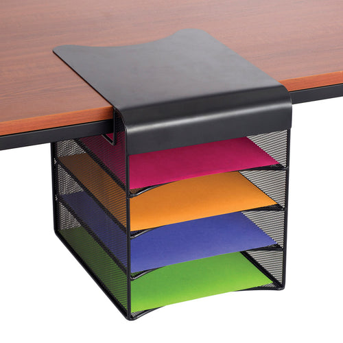UltiMesh 4 Horizontal Compartment Under-Desk Hanging Organizer