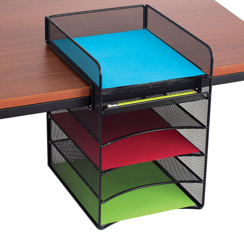 UltiMesh 5 Horizontal Compartment Under-Desk Hanging Organizer