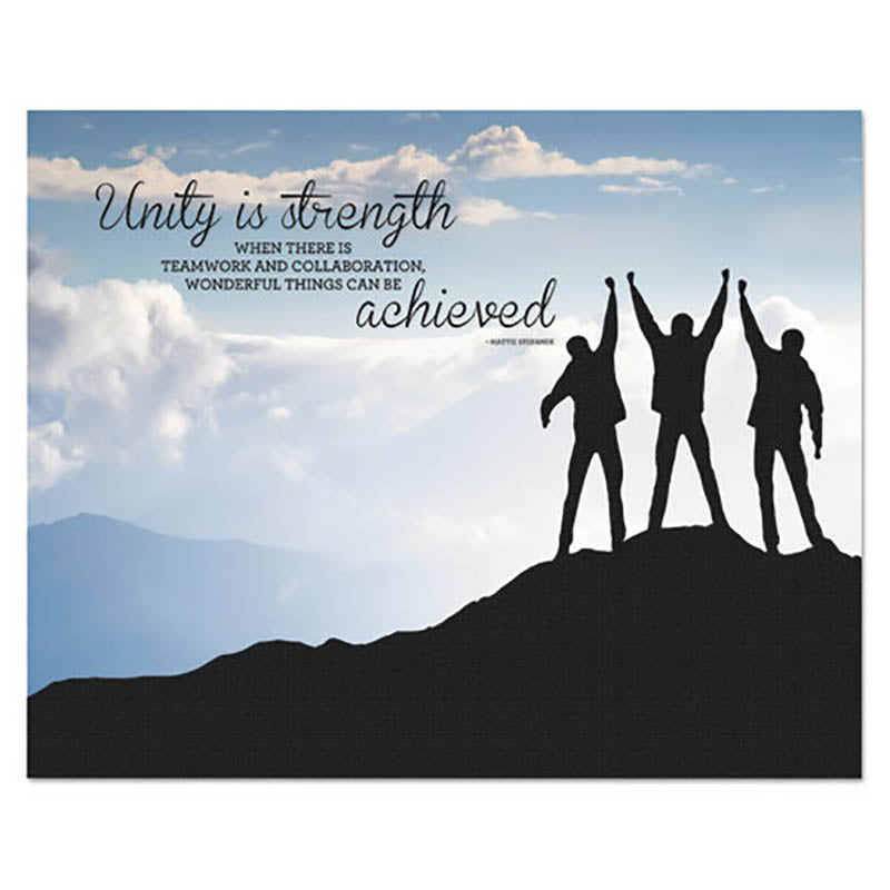 """Unity"" Silhouette Canvas Motivational Print, 22"" x 28"""