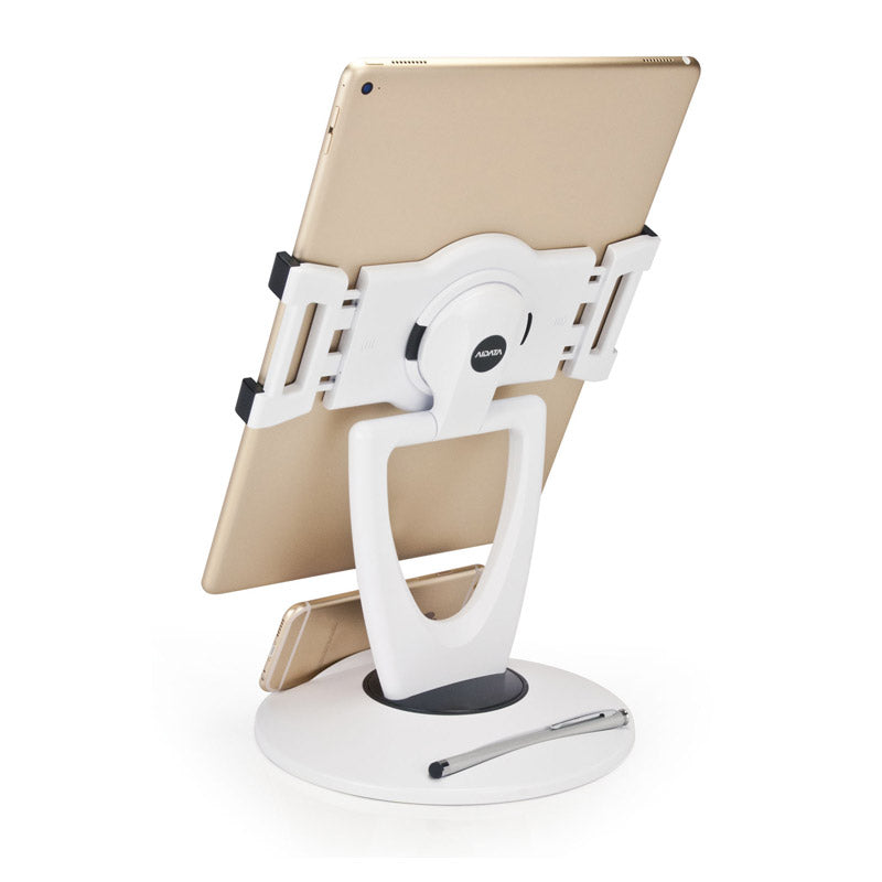 Universal Multi-Function Tablet Stand w/ Smart Phone Holder Base