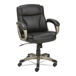 Veon Low-Back Leather Task Chair w/ Coil Spring Cushioning