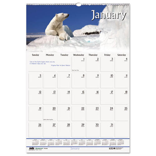 Wildlife Scenes Monthly Wall Calendar, 2020
