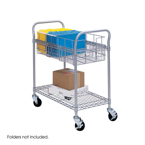 Wire Mail Cart - Gray