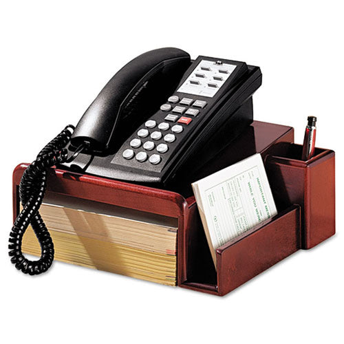 WoodWorx Phone Center Desk Stand