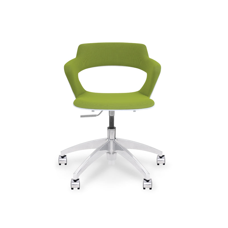 Zee Multi-Purpose Swivel Chair w/Polished Base and Upholstered Shell