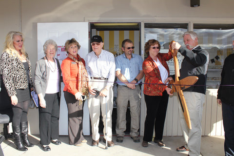 Beehive Soap ribbon cutting ceremony