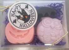 Halloween Gift Set - Three Glycerin Soaps - Jack-O-Lantern - Bat - Owl