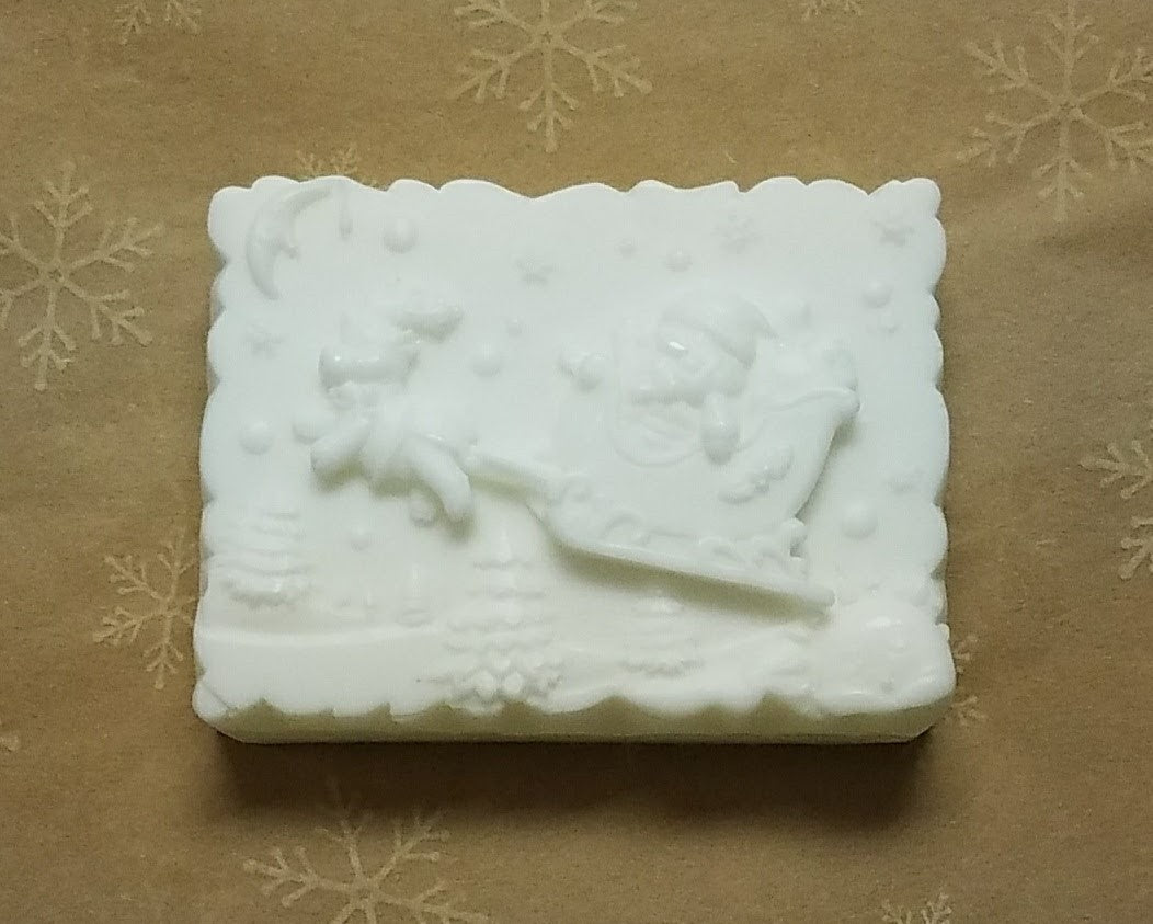Santa in Sleigh Glycerin Soap