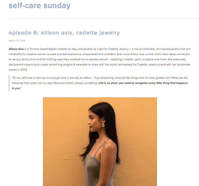 SELF-CARE SUNDAY  |  MARCH 2018