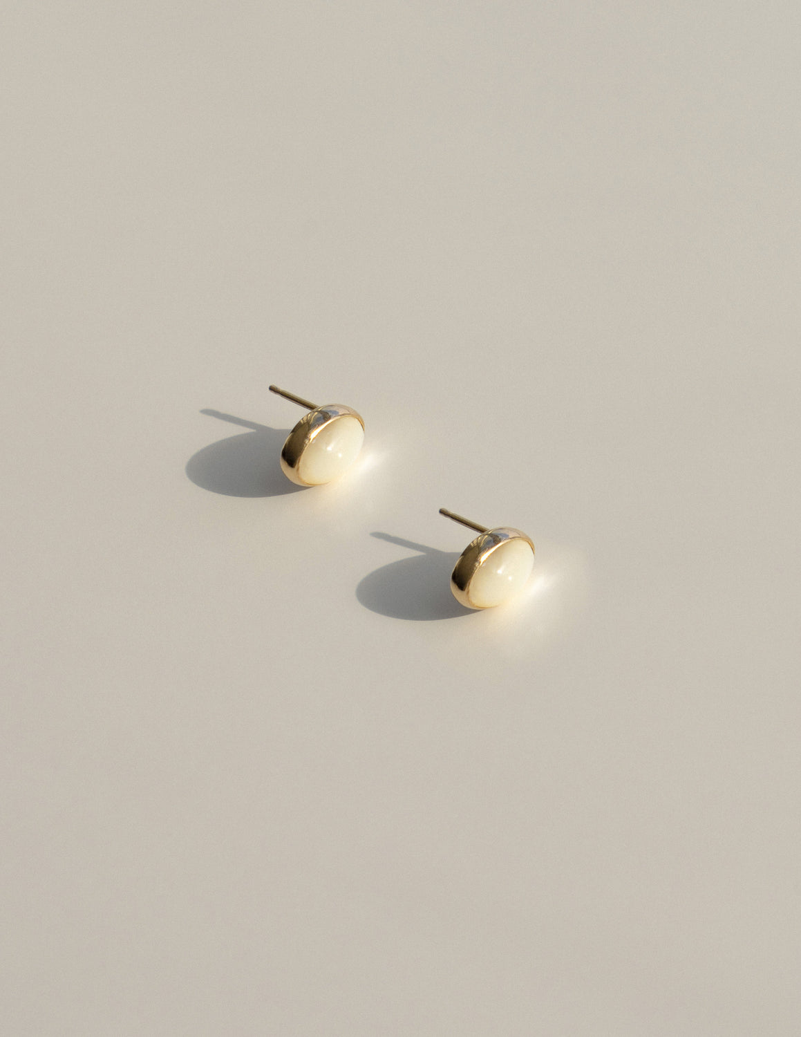 Gold Ciel Studs in Mother of Pearl
