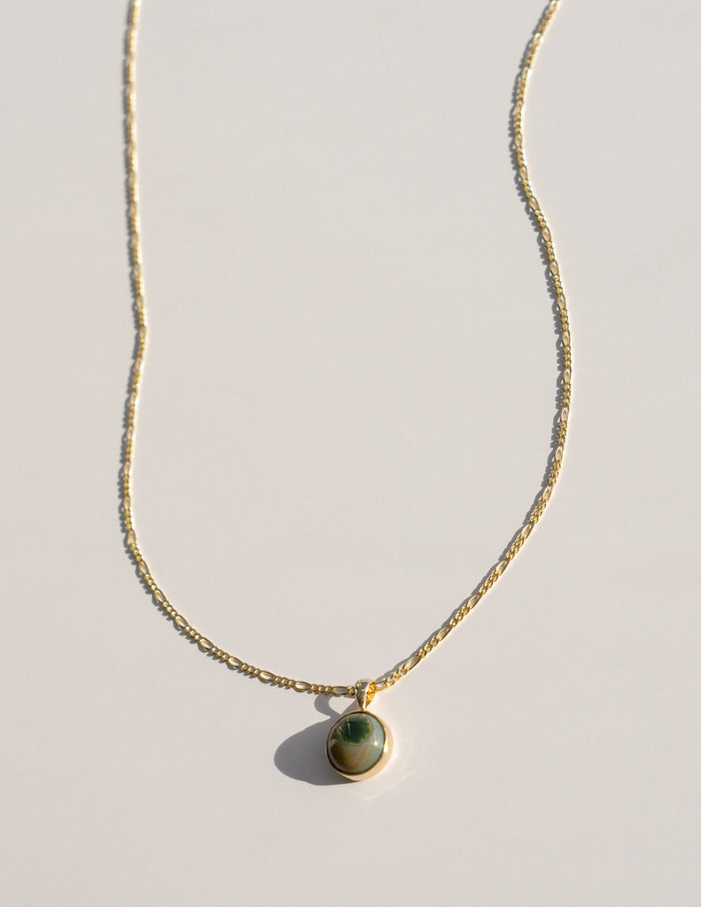ONE OF A KIND Terra Necklace in Green Jasper