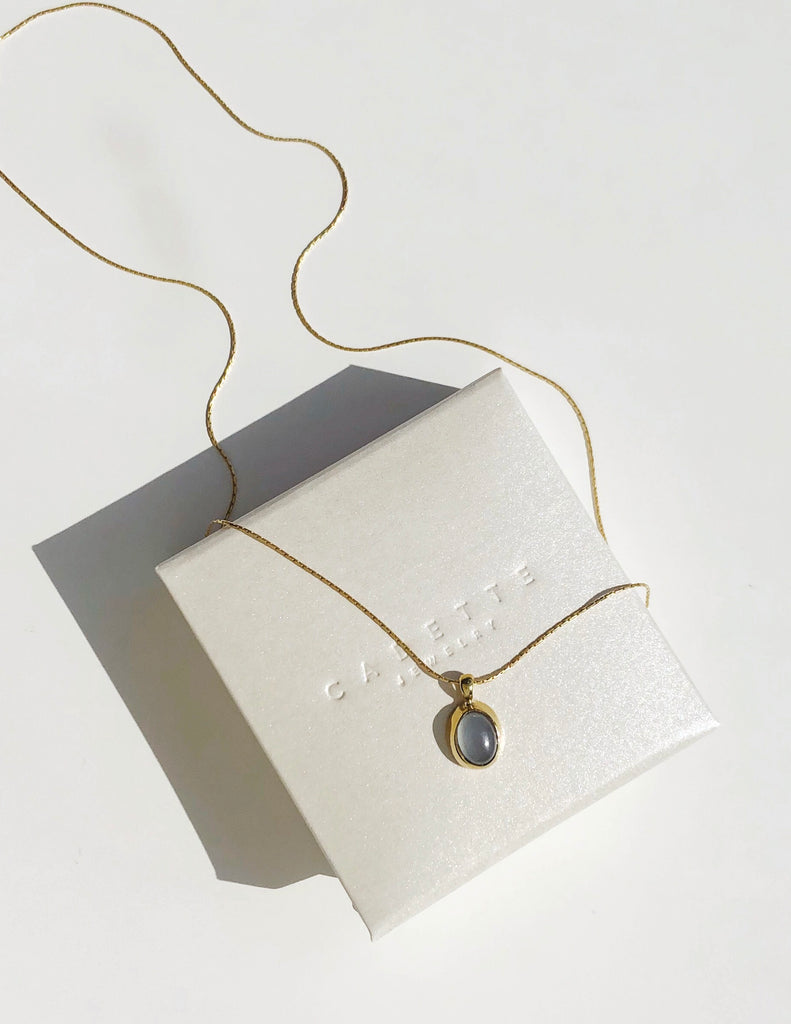 Ciel Necklace in Chalcedony