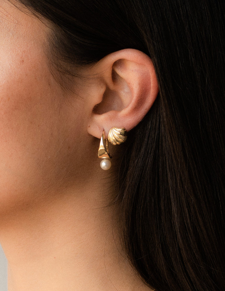 Coquina Earrings in Gold