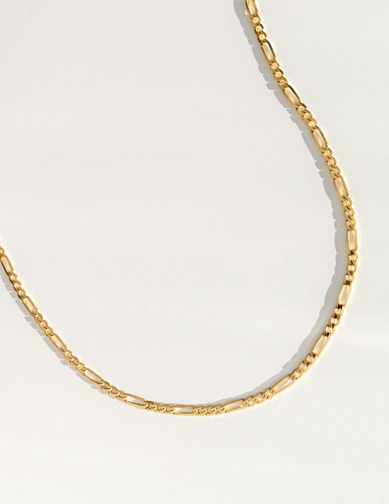 Leigh Figaro Chain in Gold