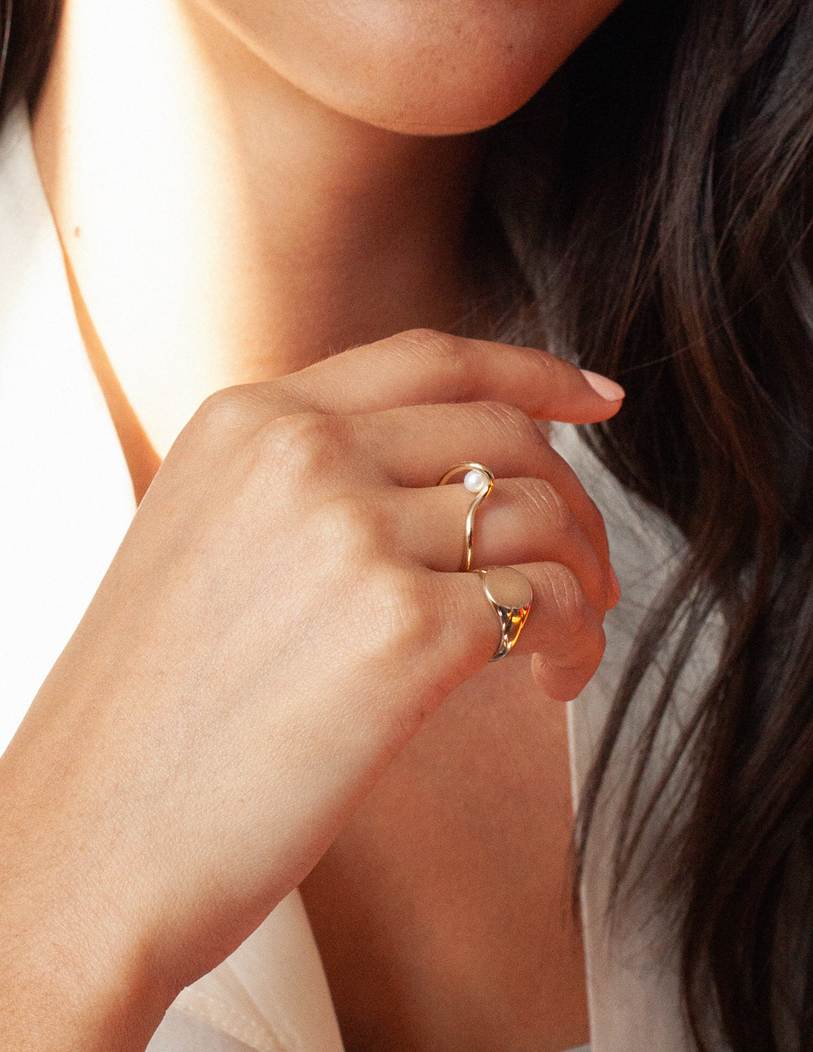 Wabi Pearl Ring in Gold