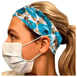 1pc Woman Floral Printed Button Headbands Hair Bands Face Mask Holder Head Wraps Women Hair Accessories 204