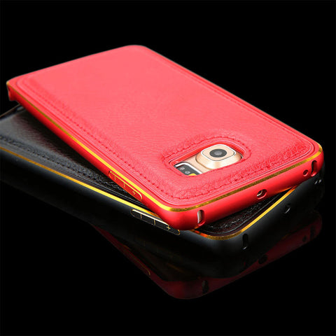 Unisex Executive Hand Tailored Leather Case For iPhone 5 5S 6 6S Plus Galaxy S6 S6 edge