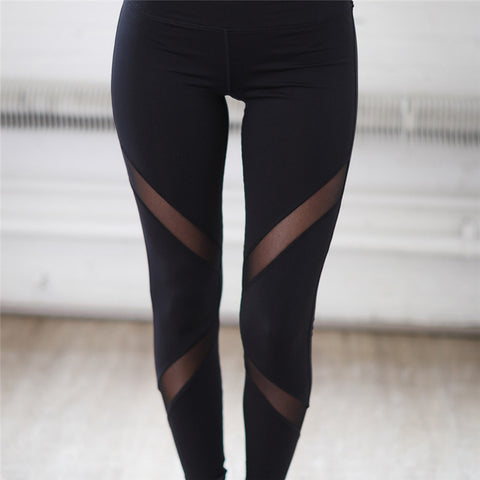 Ladies Mesh Patchwork Leggings