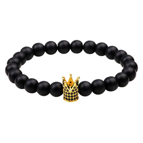 Stackable Mens Crown Bracelet