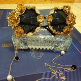 Ladies Opulent Baroque Round Sunnies