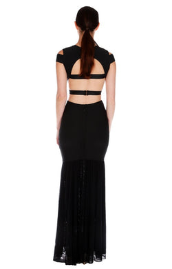Bandage Gown with Cutouts and Chiffon Mermaid Bottom