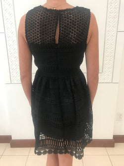 black lace dress with party skirt